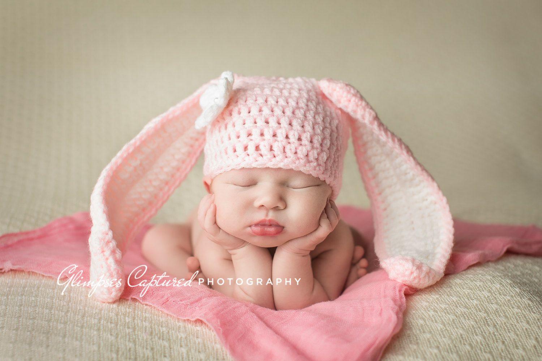 Crochet Bunny Hat, Crochet Baby Bunny Hat, Bunny Photo Prop, Baby ...
