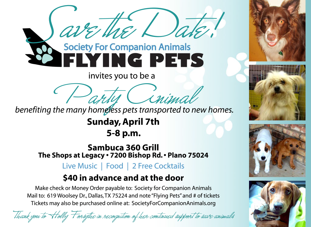 Society for Companion Animals Flying Pets