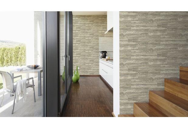 Grau, Mamoriertes Design Verschönert Ihre Küche, Wohn  Oder Esszimmer. # Tapete #