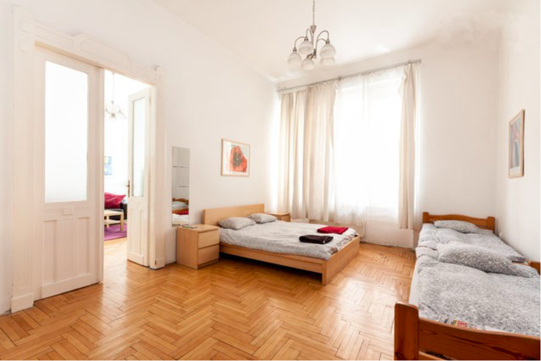"The apartment is in 18 Wesselényi street, district 7. Budapest is in the city center right on the border of district 5 (""Inner City"") - full of shops,..."