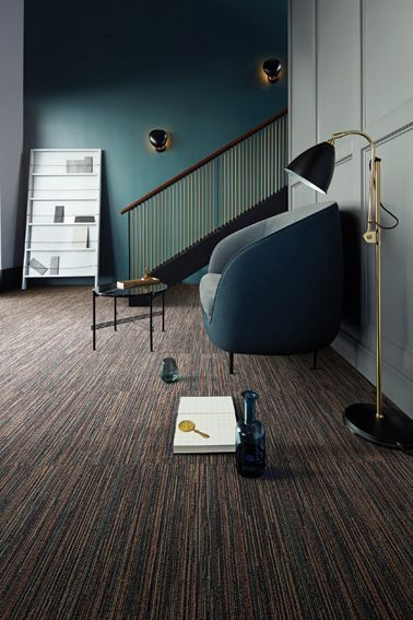 Interface Classic Collection | Dark colored floor designs for a comfortable  lounge / reading room.