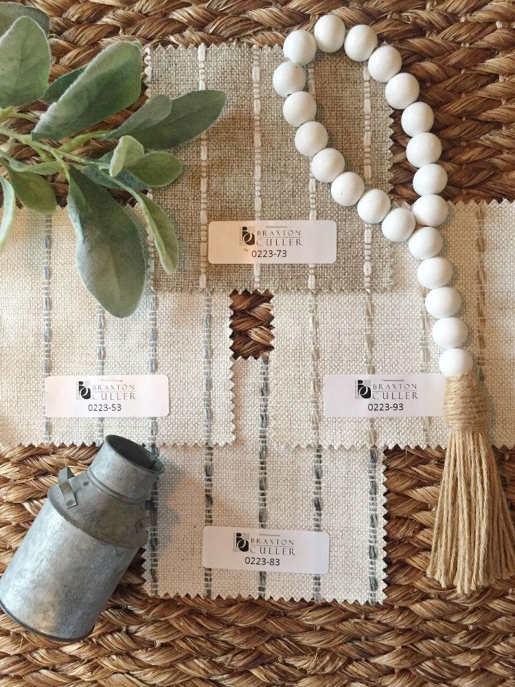 Braxton Culler Striped Performance Fabric Mood Board In