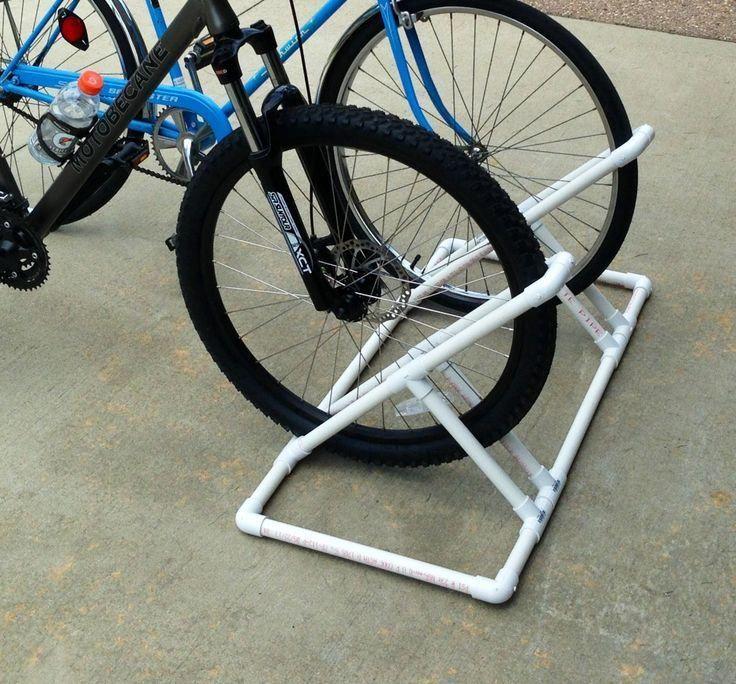 Pvc Bike Rack Bike Rack Made Of Pvc Inspiration Pinterest