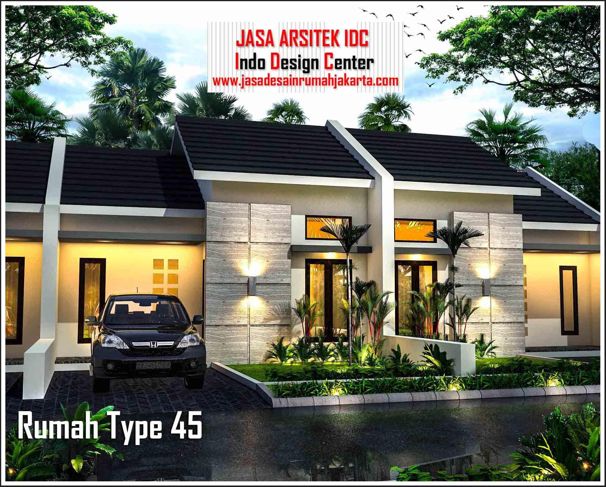 Desain 3D Rumah Type 45 Desain, Rumah, Arsitek