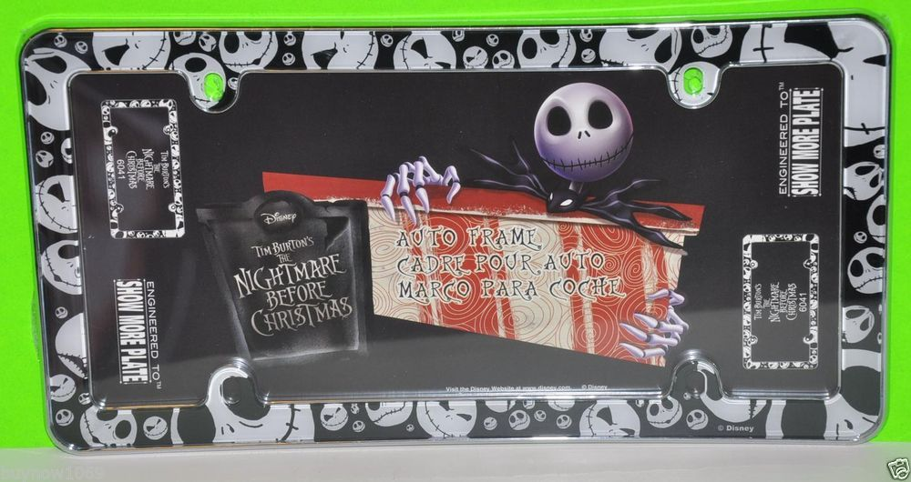 The nightmare before christmas license plate frame nbc jack car ...