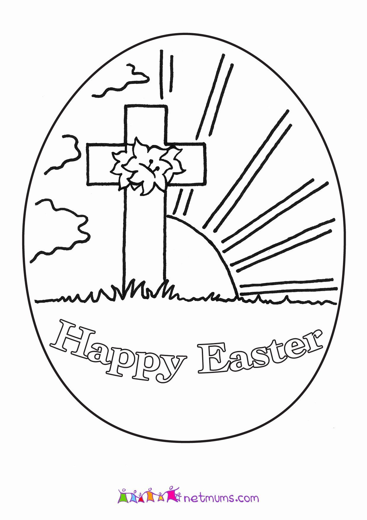 Easter Preschool Coloring Pages In