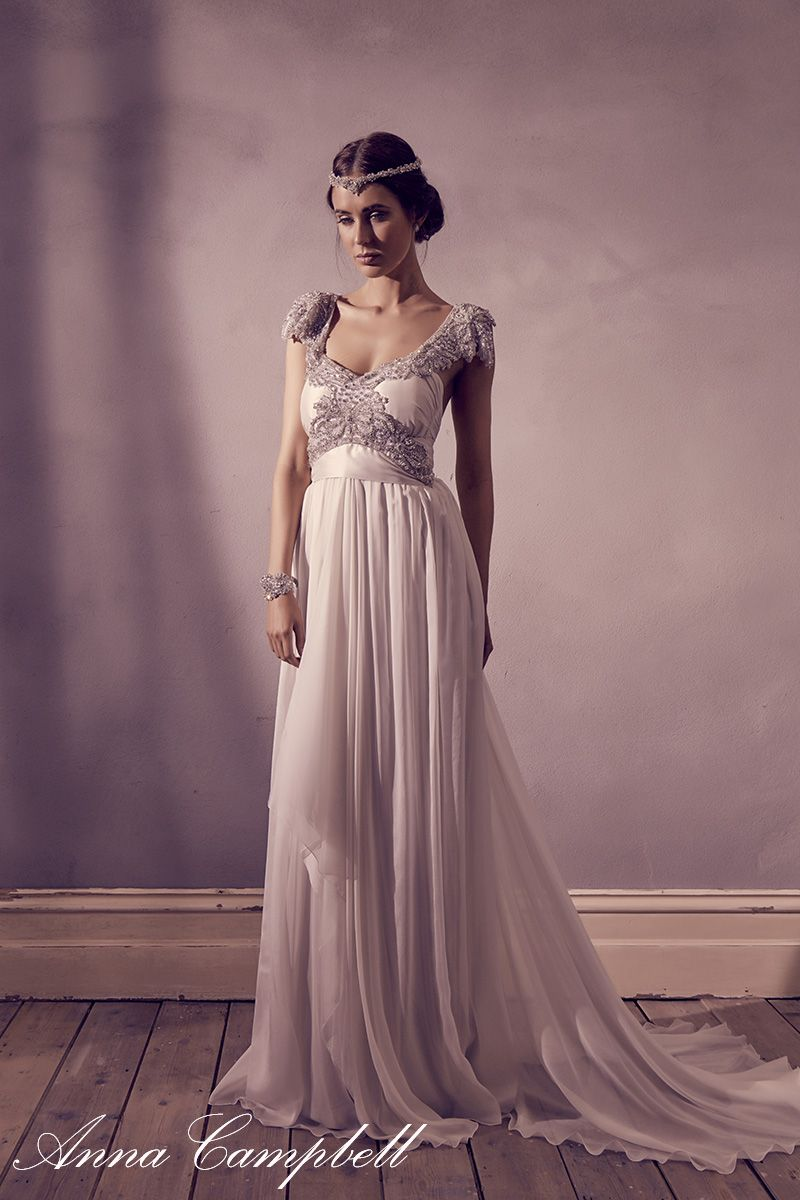 Anna Campbell \'Miranda\' dress and \'Summer\' headpiece. www ...