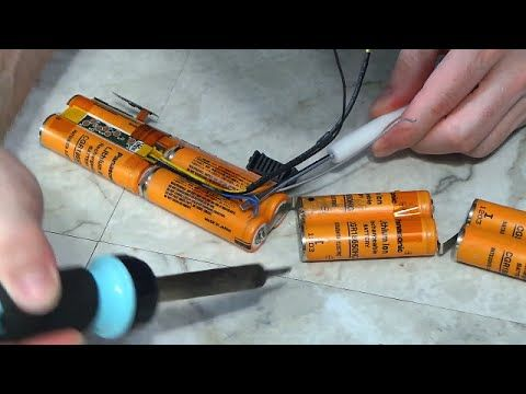 Rebuild a laptop battery pack - YouTube