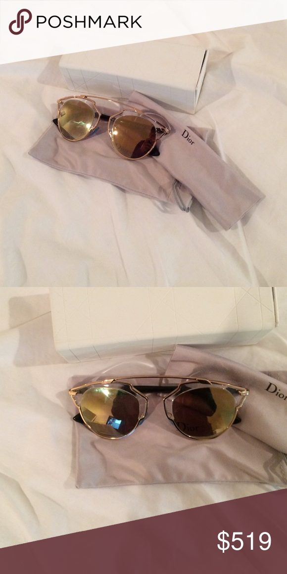 17ba4ead2c1d Dior so real gold gold mirrored sunglasses New without tags! In box! Dior  Accessories Sunglasses
