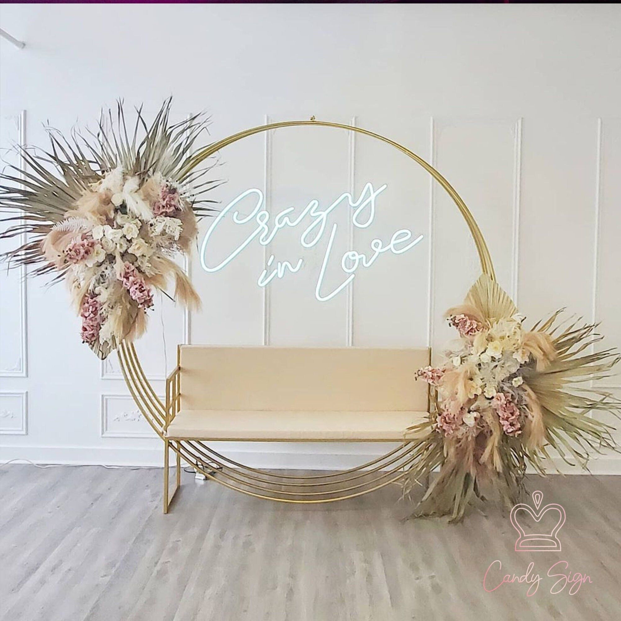 Neon sign name: Crazy In Love Size options : 30-240 cm (Custom size accepted) Color options : cool white, warm white, pink, red, ice blue, blue, yellow, green Occasion:Party,Store,Shop,Nails and Salon,Home and Yard decor,Birthday and Anniversary. Please use a ruler at the place where you'll hang your sign to determine the perfect size. 💡Package include: 1. Finished Neon Sign, with switch 2. Suitable power adapter and plug 3. Installation accessories like screws, chains etc. ✈️Free shipping worl