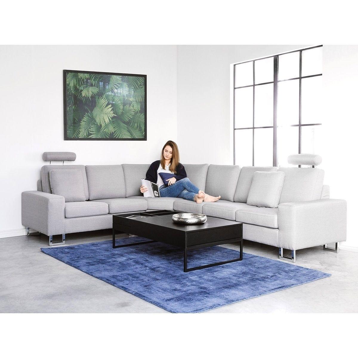Fabric Sectional Sofa Light Gray Stockholm Grey Beliani