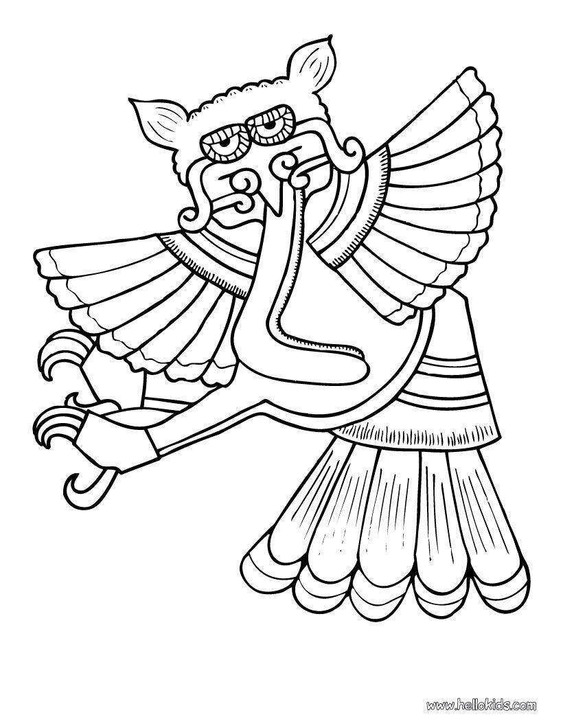 Owl Coloring Page Nice Bird Sheet More Original Content On Hellokids