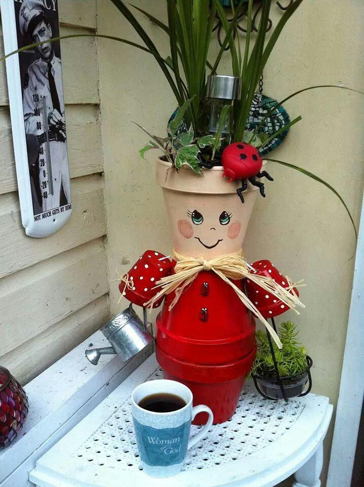 flower pot people zdobene kvetinace pinterest garten deko tont pfe und basteln. Black Bedroom Furniture Sets. Home Design Ideas