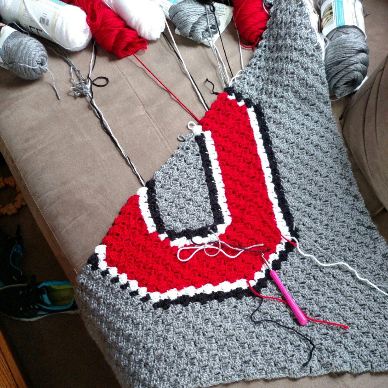 Ohio State Crochet Blanket Crochet Osu Baby Afghan Ohio