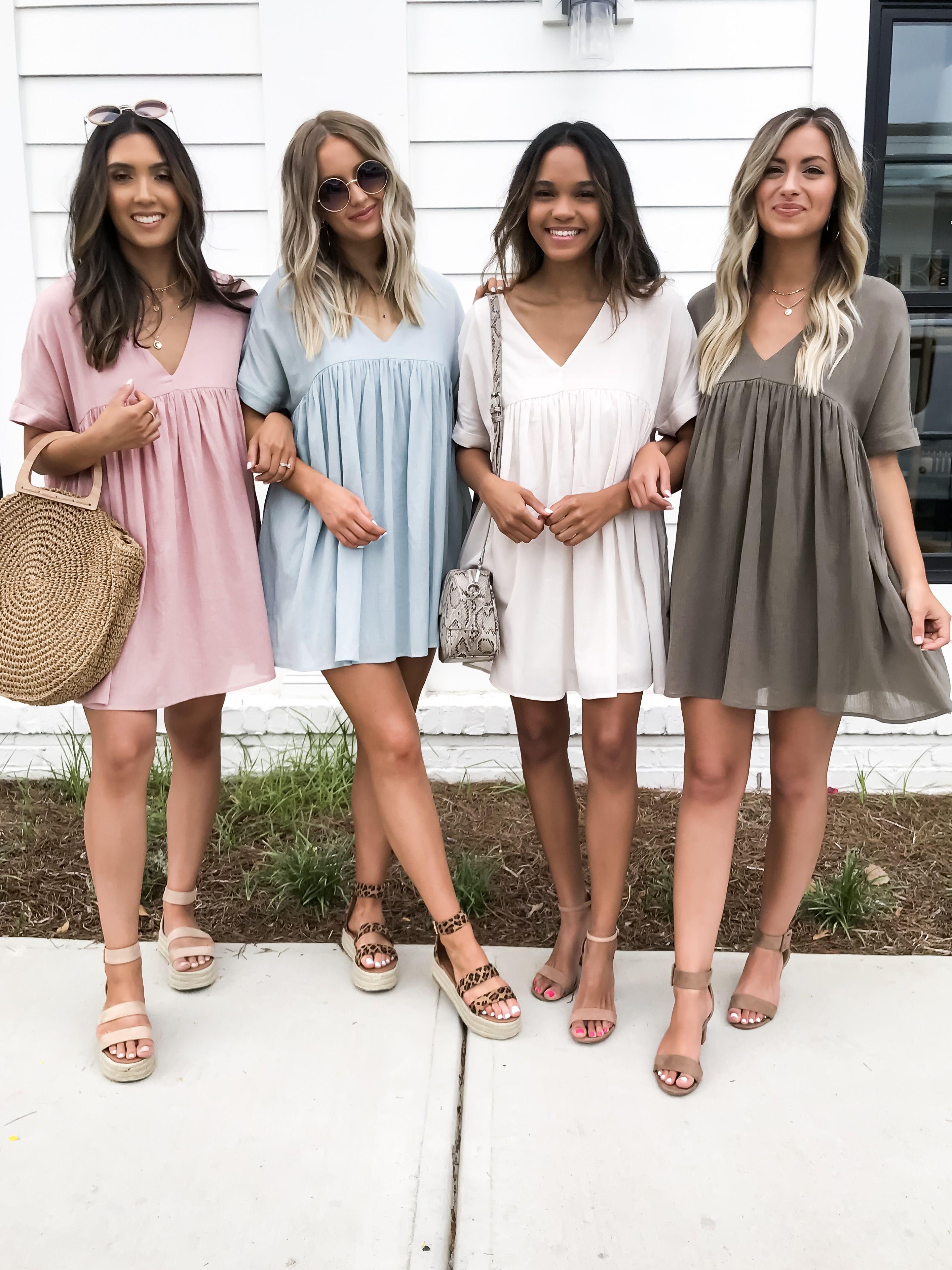Mason V Neck Babydoll Dress Shopdressup Dresses Stylish Summer Outfits Prom Dresses Long Lace [ 3775 x 2831 Pixel ]