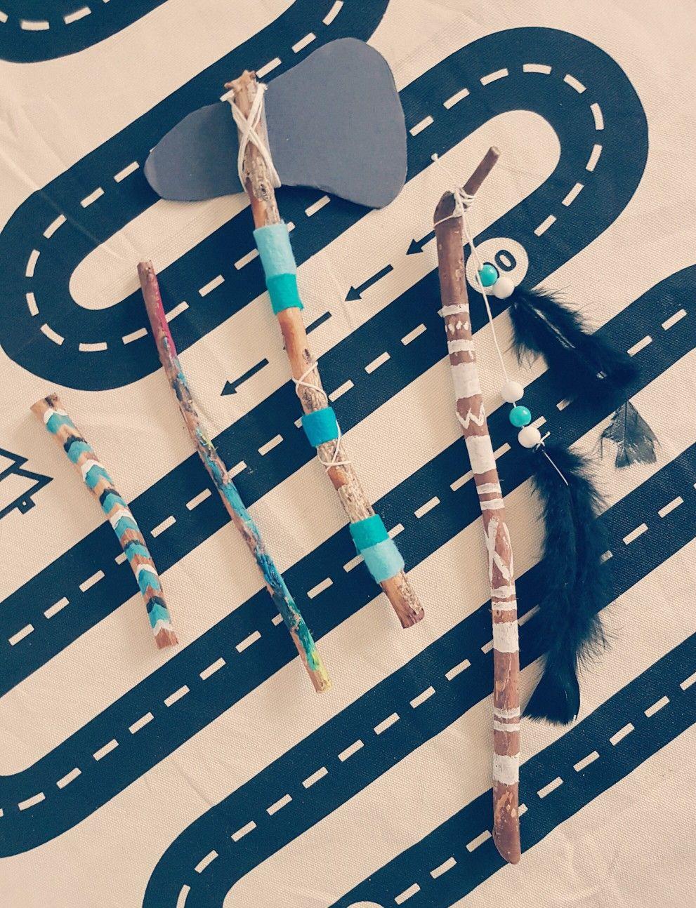 Stöcke, Farbe, Indianer, DiY# | LeosMum☆ | Pinterest | Stöcke ...