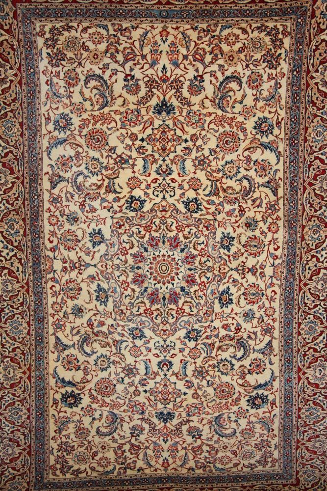 Detailed Persian Silk And Wool Rug Http Www Imperialrugs Co Uk Vintage Handmade Carpets Antique Todeshk Nain 372 91 1412 Php