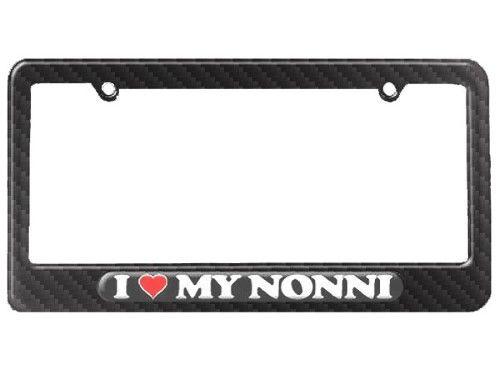 I Love Heart My Nonni - Italian Grandmother License Plate Frame ...