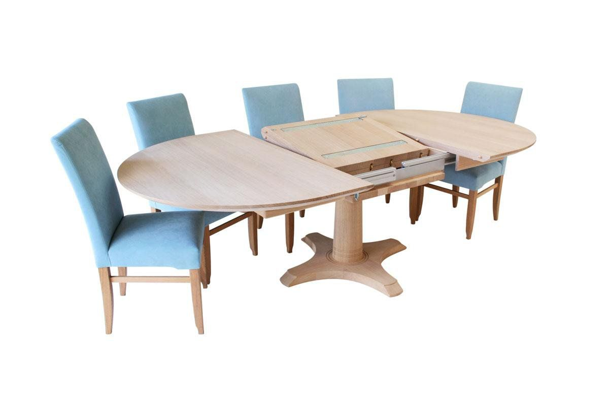 Circa Ii Oval Dining Table With Extension Mechanism Open 1 5m Wide Extending By 70cm But We Probably Want Tw Dining Table Oval Table Dining Oak Dining Table