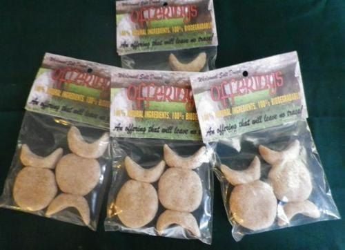 Goddess Offerings, pagan offering, biodegradable salt dough