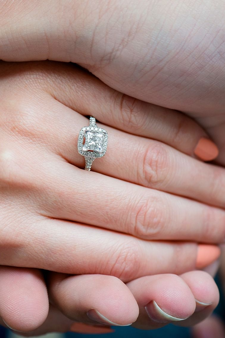 This gorgeous halo engagement ring sparkles brilliantly. | rings ...