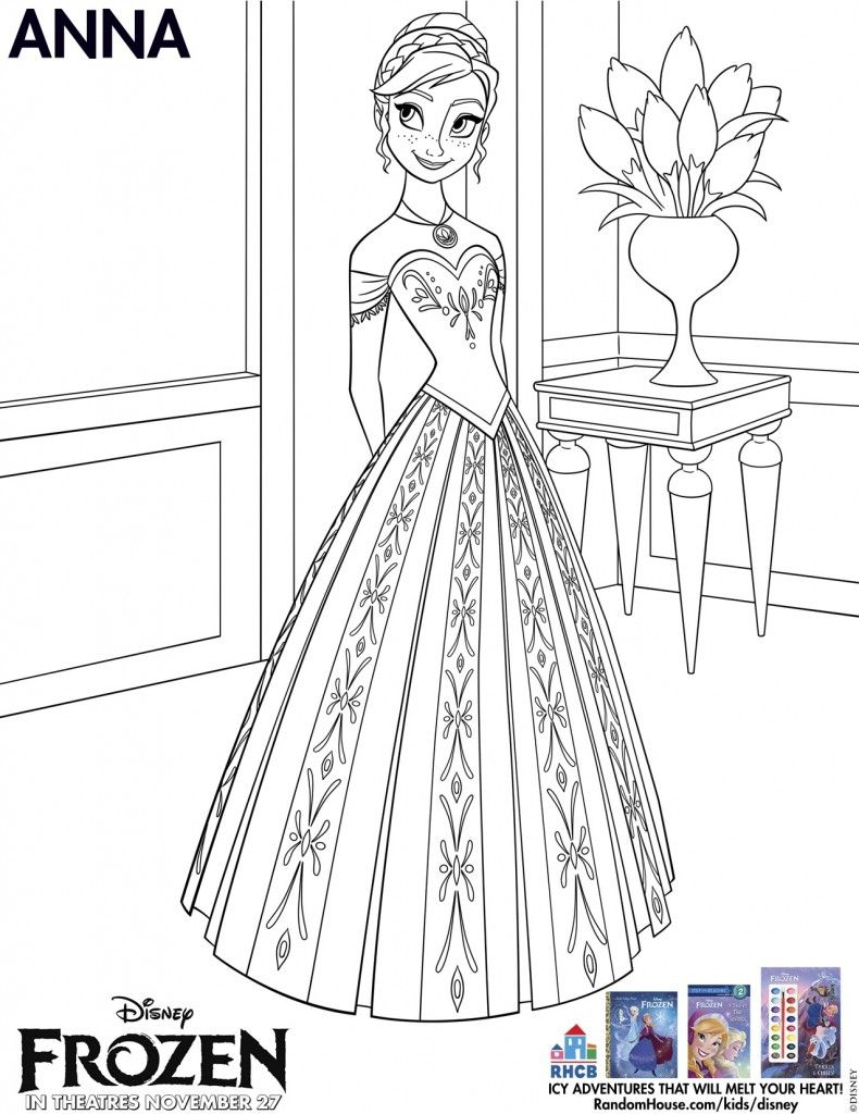 Disneys Frozen Free Printables For Kids Coloring SheetsElsa