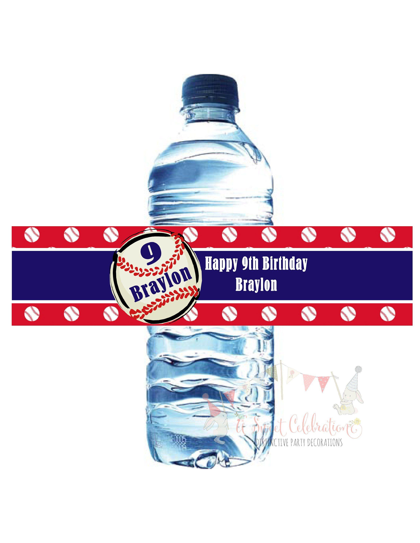 Baseball waterproof water bottle labels in 2019 products water