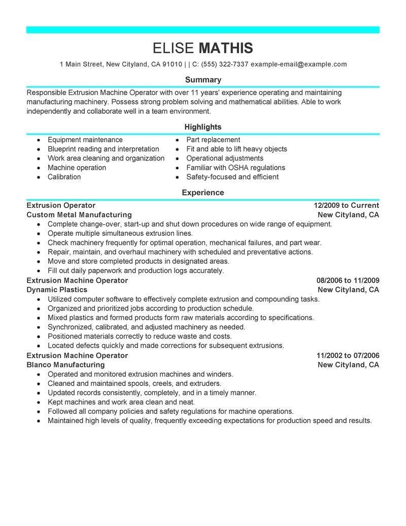 sample resume for warehouse forklift operator