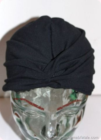 Sew turban hat - great tutorial (this hat was a life saver ...