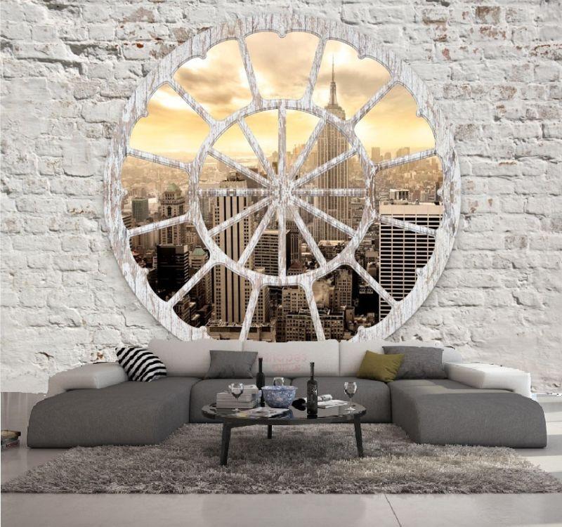 papier peint intisse trompe l oeil new york photo murale. Black Bedroom Furniture Sets. Home Design Ideas