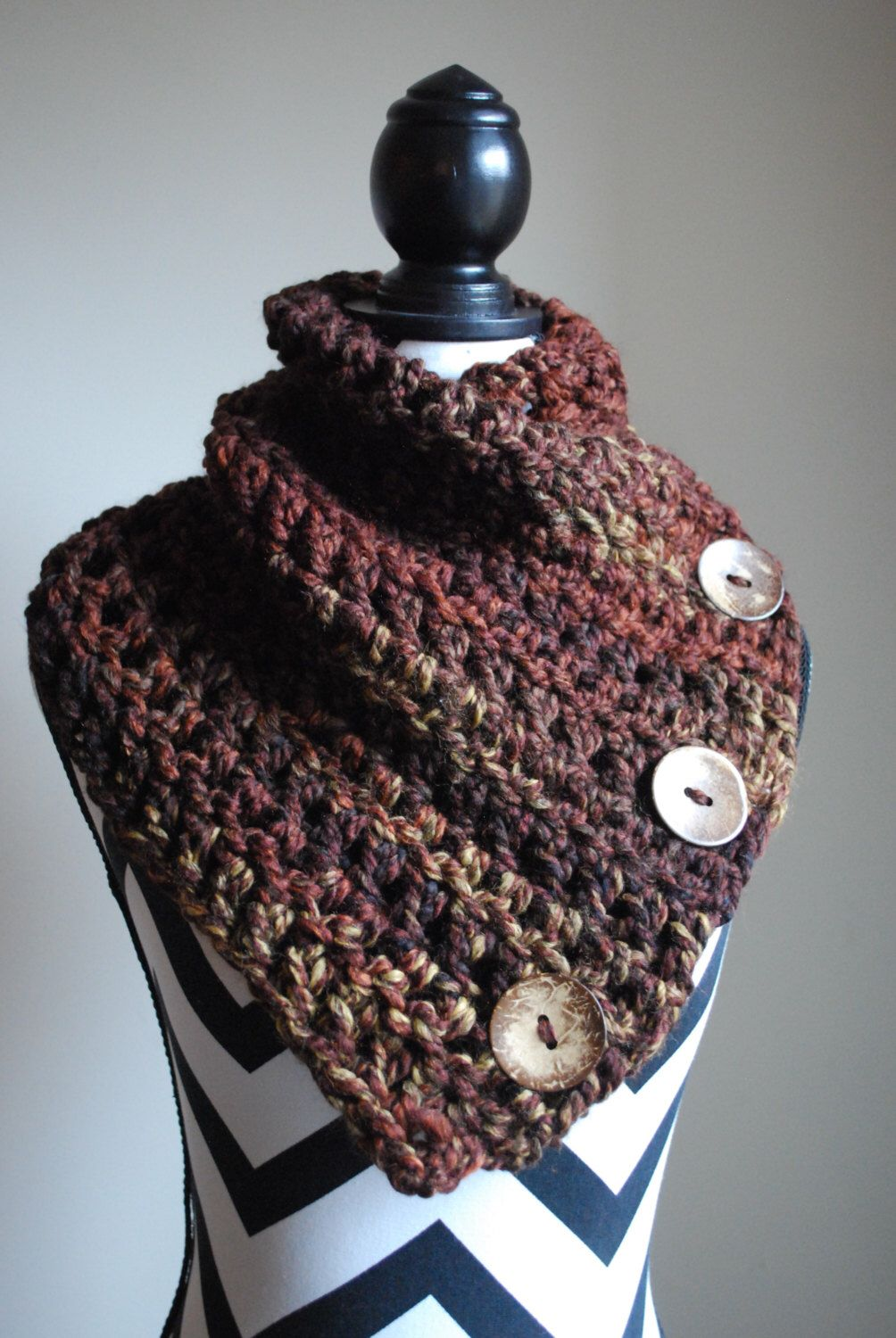 Crochet Pattern - Large Boston Harbor Scarf - Crochet Scarf - Chunky ...