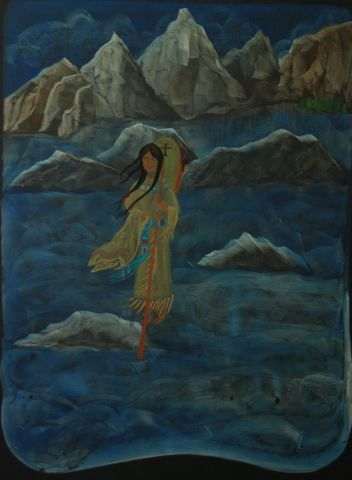 Waldorf ~ 5th grade ~ North America ~ Sacagawea ~ chalkboard drawing