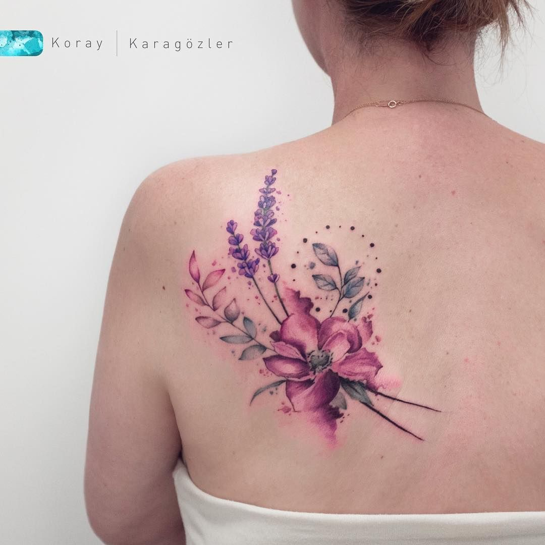 32 Trendy Tattoo Watercolor Flower Purple Cherry Blossoms Tattoo