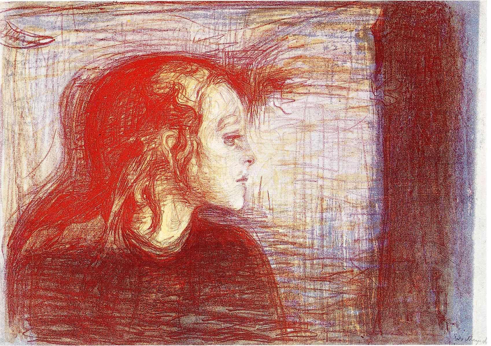 The Sick Child II - Edvard Munch - WikiArt.org | Edvard munch, Painting, Art