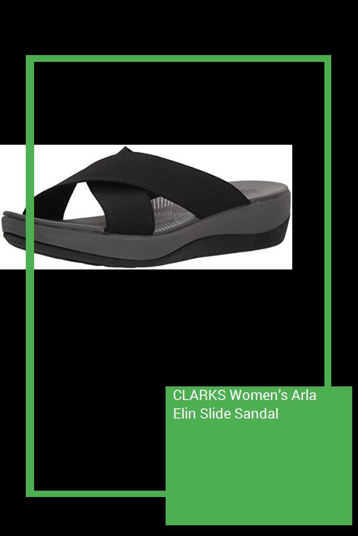 dbc4ea098 CLARKS Women s Arla Elin Slide Sandal  new