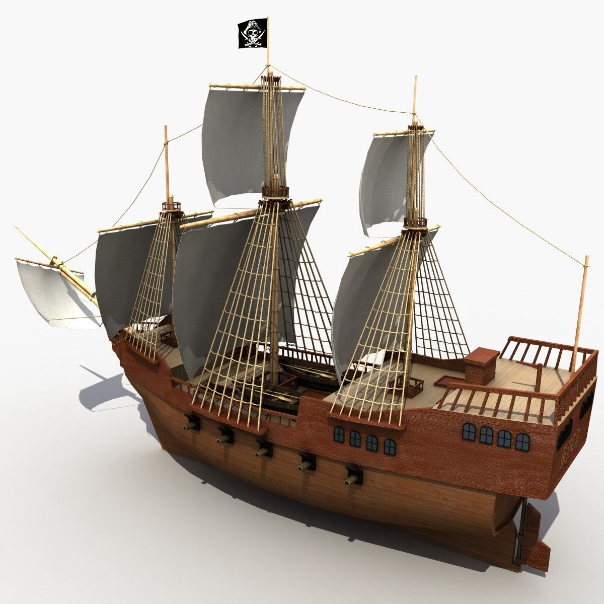 pirate ship 3d model google search shack reference pinterest