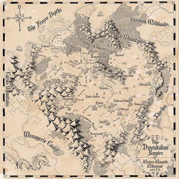Dwendalian Empire Map in 2019 Gift ideas Pinterest