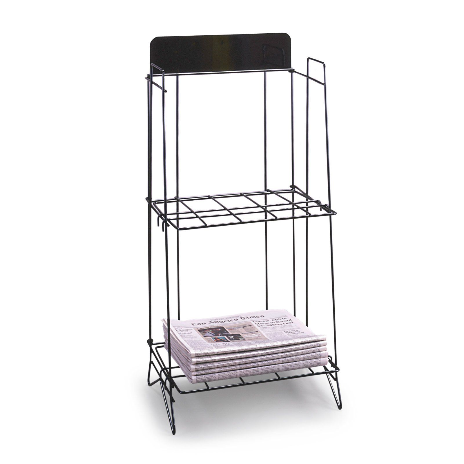 newspaper rack for office. black broadsheet newspaper rack | from hayneedle.com for office -