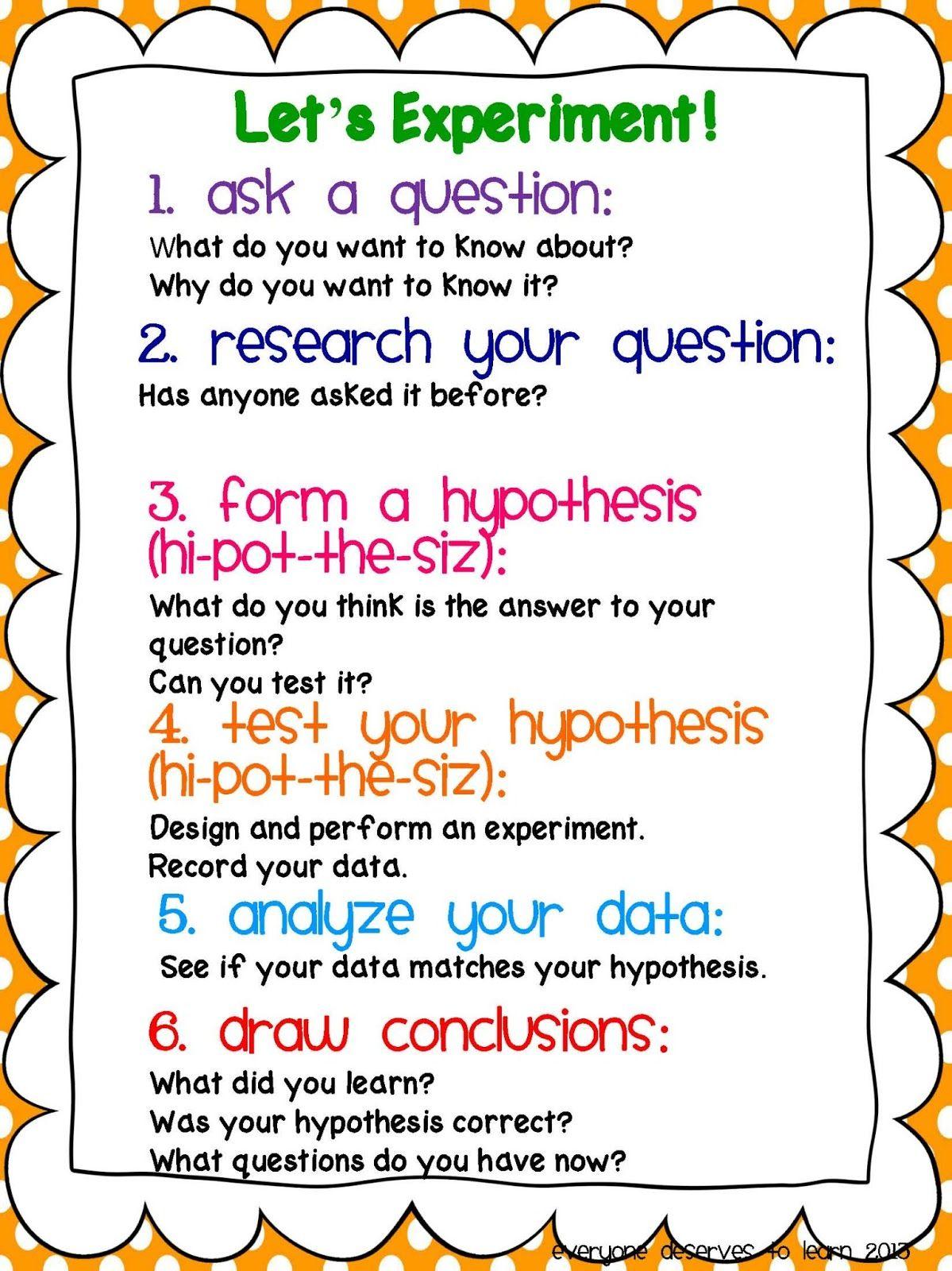 Scientific Method Freebie Scientific Method Science Fair School Science Experiments