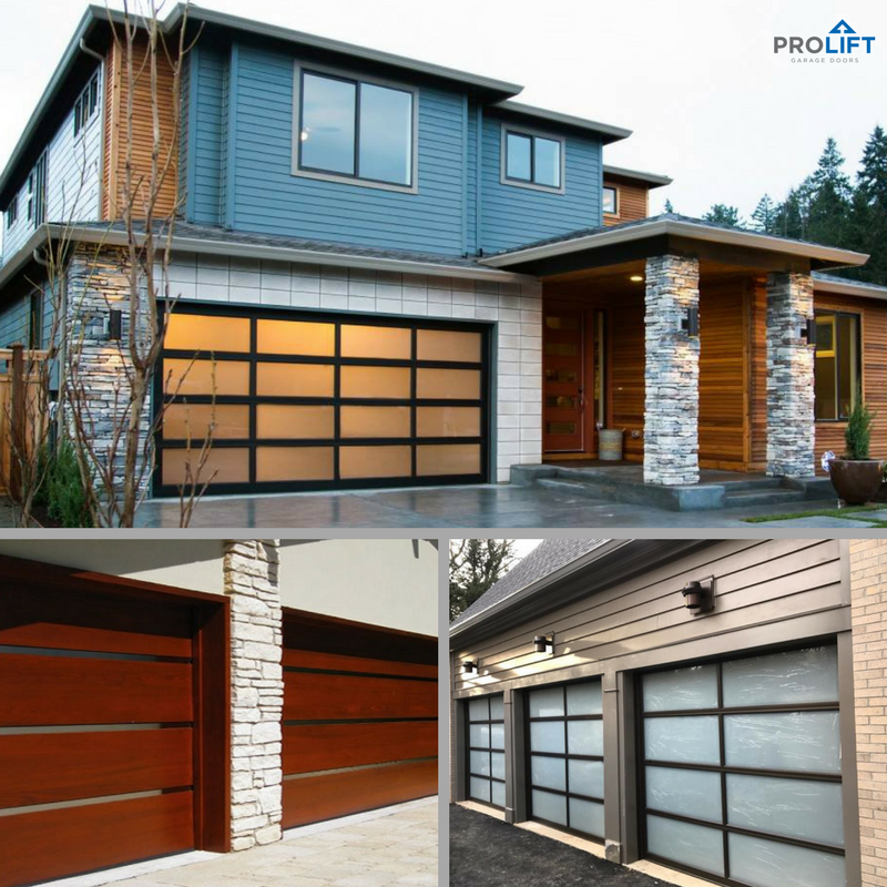 Contemporary Garage Doors Can Be Manufactured With A Variety Of Materials Including Wood Glass Aluminu Garage Doors Garage Door Styles Fiberglass Garage Doors