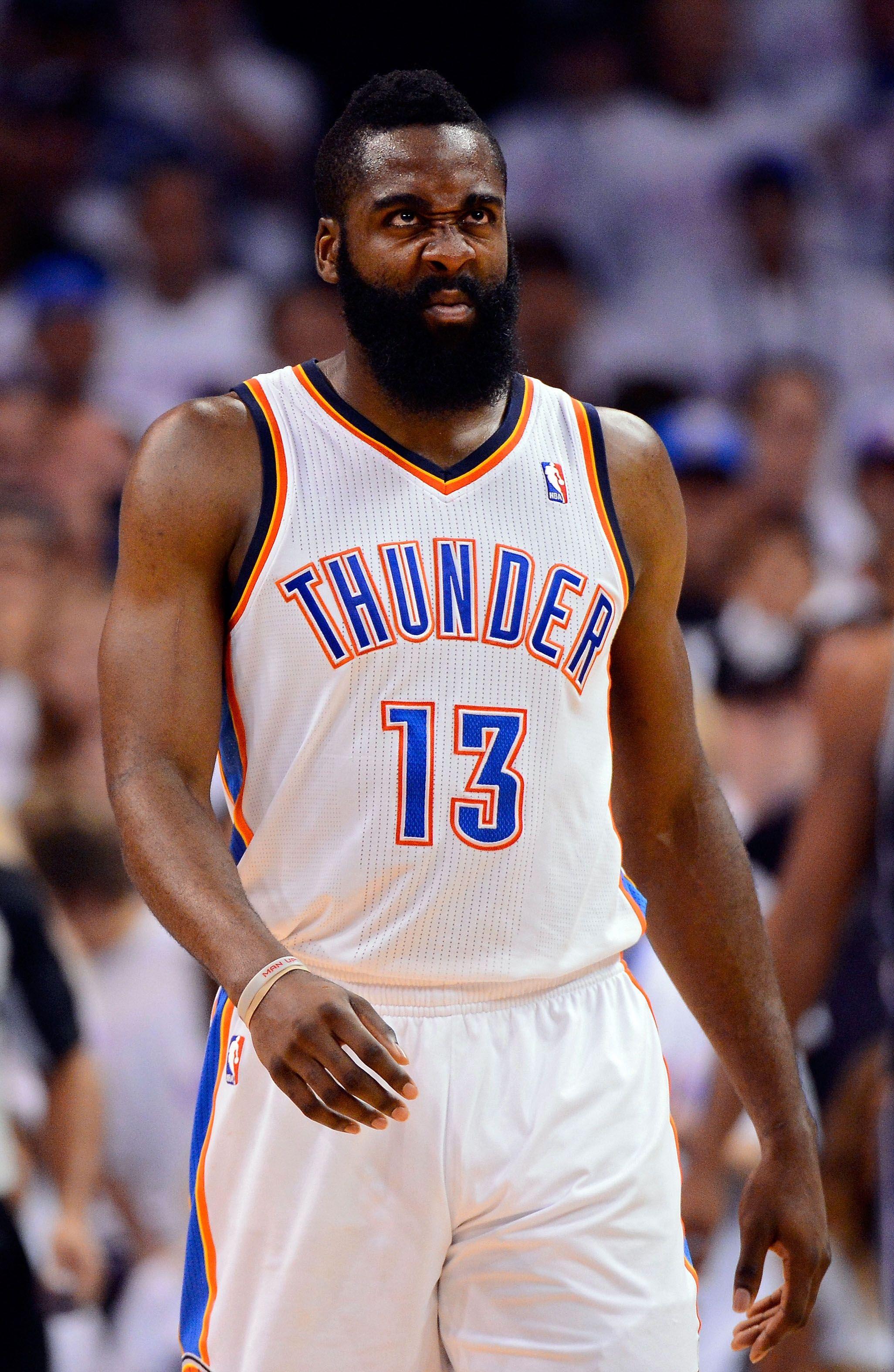 James Harden Fear The Beard Oklahoma City Thunder James Harden Oklahoma City Thunder Nba League Pass