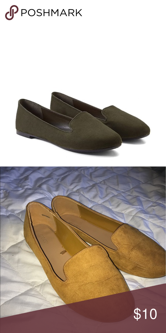 3b648cdb6be F21 Faux Suede Mustard Loafers Great suede loafers from Forever 21. They  are mustard colored
