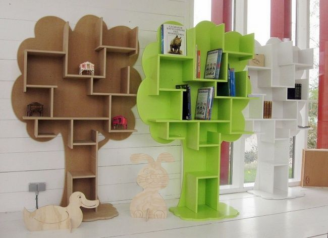 This Tree Shaped Bookshelf Is Perfect For A Library Or A Kids Room Tree Bookcase Tree Bookshelf Bookshelves Kids