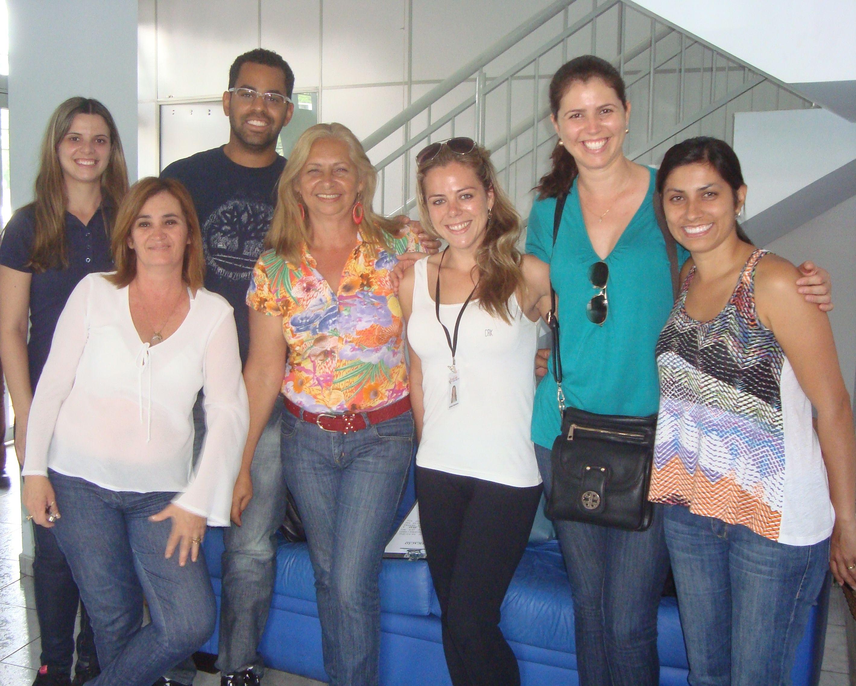 Da esquerda para a direita: Aline, Adriana, Elton, Iris, Lyhara, Ana Paula e Katiuscia