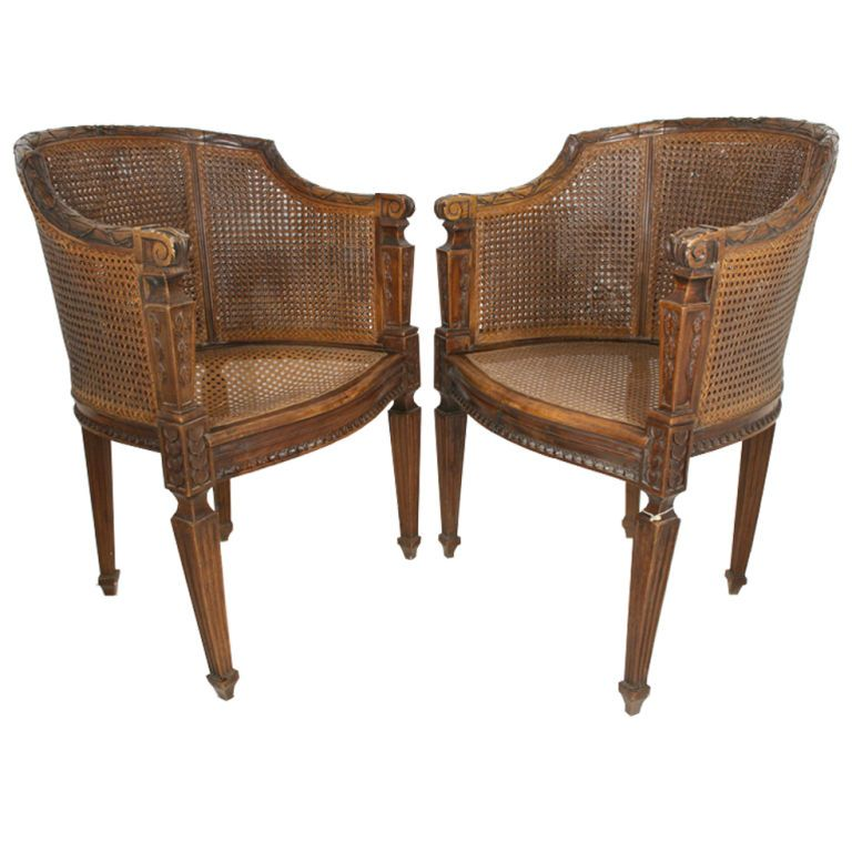 Antique highback wicker chairs wicker