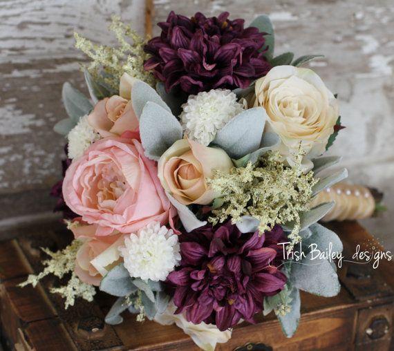 Vintage Wedding Flower Bouquets: Rustic Vintage Wedding Bouquet By TrishBaileydesigns On
