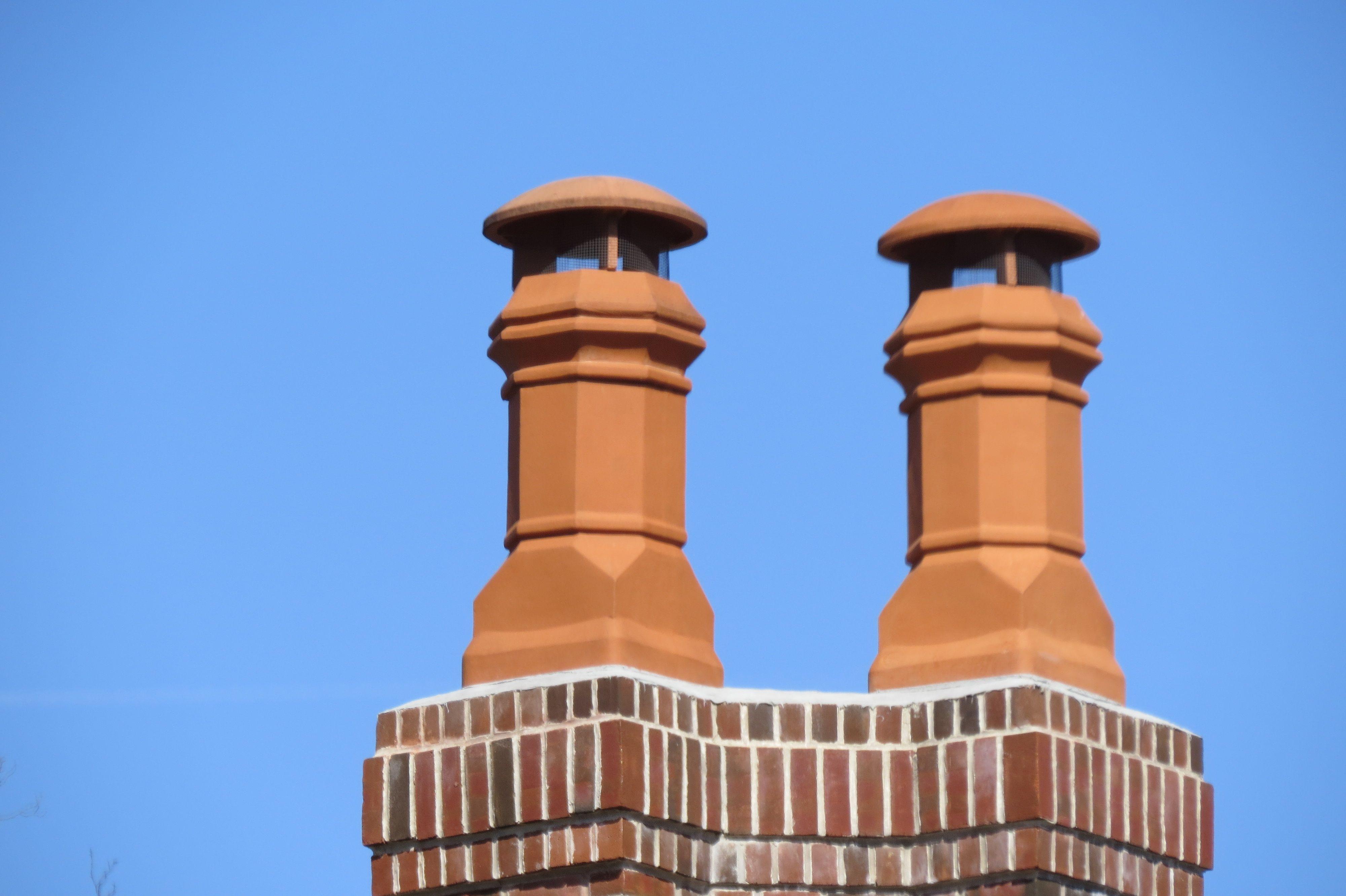 Standard Edwardian Clay Chimney Pot Chimney Cap Faux