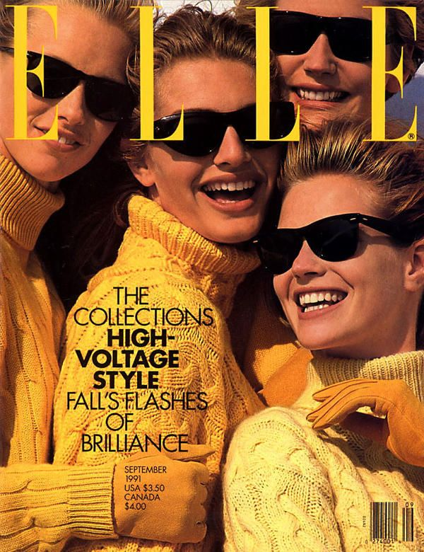 Photo of Cover of Elle USA with Michaela Bercu, September 1991 (ID:977)| Magazines | The FMD