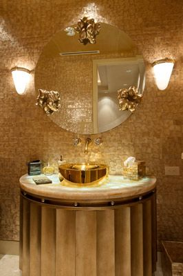 25+ luxury gold master bathroom designs with gold fixtures