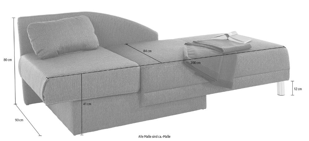Jockenhofer Gruppe Recamiere Mit Schlaffunktion Und Bettkasten Recamiere Mit Schlaffunktion Recamiere Grosse Couch